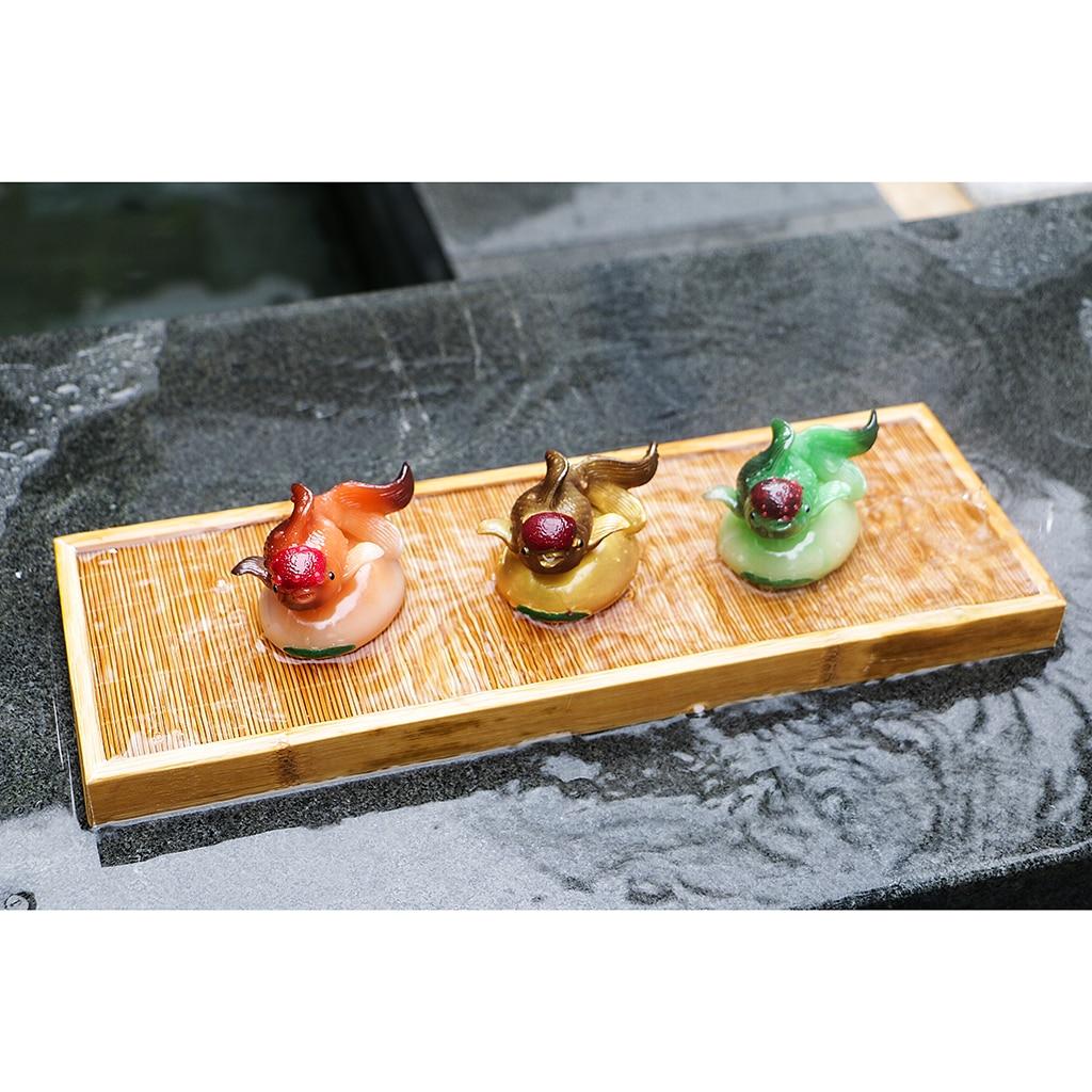 Resin Manual Goldfish Tea Pet Decoration The Tea Ceremony Tea Set Tea Tray Ornament Decor
