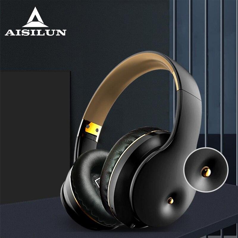Wireless headset Bluetooth 5.0 headphone with Microphone Deep Bass HiFi Stereo Surround support TF Card/ FM Radio Earphone|Bluetooth Earphones & Headphones| - AliExpress