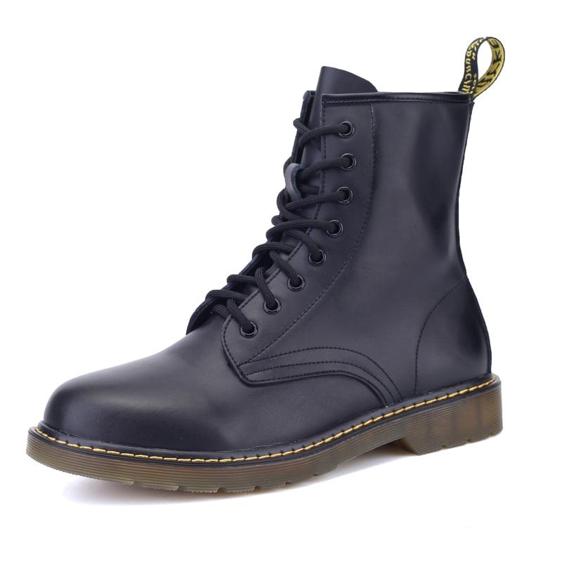 Мужские ботинки мартинсы Dr. Motocycle, Теплые ботильоны для взрослых, зимняя обувь размера плюс 38 44, новинка 2019| |   | АлиЭкспресс