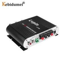미니 하이파이 스테레오 앰프 CES LVPIN 12V 200W MP3 자동차 라디오 오디오 전력 증폭기 2.1CH 하우스 슈퍼베이스