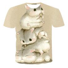 2021 Boutique 3D Fashion T-shirt People Abstract Art Cartoon Animal Pattern Trend Hip Hop Summer Customization