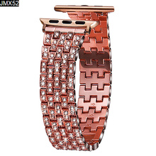 Full Diamond Metal Bracelet Strap for Apple Watch Series 3 2 1 40mm 38mm Fashion Band Iwatch 4 5 Bands 42mm 44mm