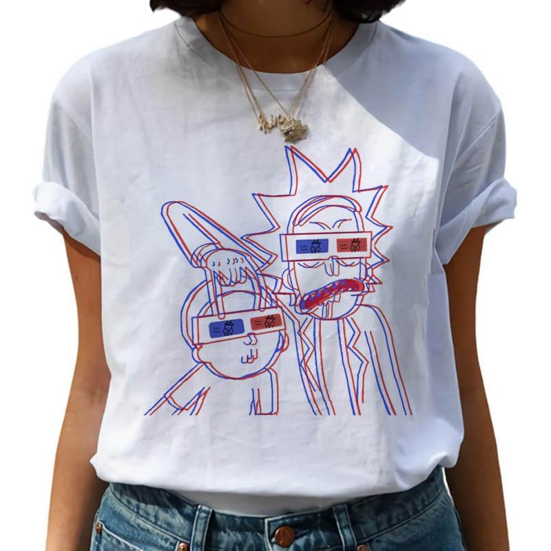 New Rick and Morty Funny Cartoon   T     Shirt   Women Harajuku Ricky N Morty Ullzang   T  -  shirt   90s Graphic Tshirt Fashion Top Tees Female