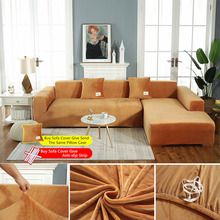 AiLife Plush fabric Sofa cover Velvet Universal Couch Cover Sofa Slipcovers L shape seat covers for