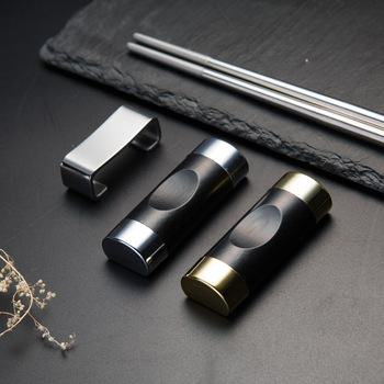 Stal nierdzewna Metal Chopstick reszta nadaje się do Sushi Hash Food Stick narzędzie kuchenne kwiat wiśni tanie i dobre opinie CN (pochodzenie) Ekologiczne Na stanie Chopstick rest Jedna para STAINLESS STEEL