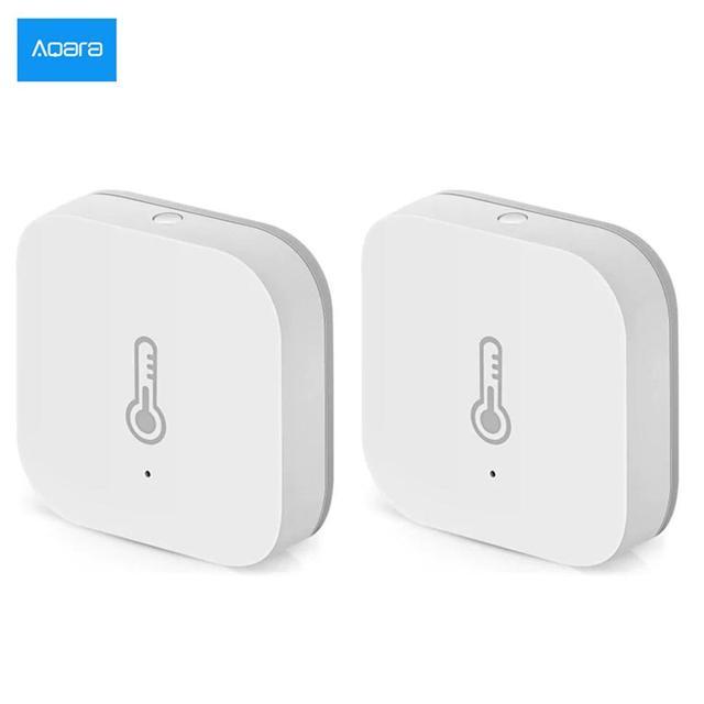 2 개/몫 AQara 스마트 온도 습도 센서 ZigBee Wifi 무선 스마트 홈 app와 함께 작동