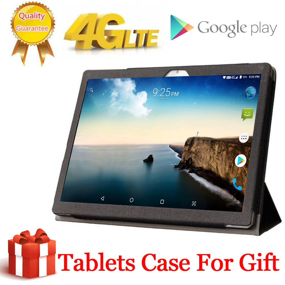 2020 Free Gift Case Tabletr 2560X1600 4G LTE 10.1 Inch 2.5D Tablet Pc 10 Deca Core MTK6797 8GB RAM 128GB ROM Android 8.0 MT6797