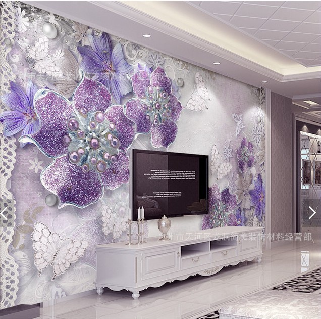 3D TV Background Wallpaper Mural Living Room Bedroom Non-woven Wallpaper Large Seamless Wall Covering Fabric Modern Minimalist