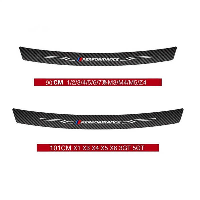 Pegatinas de tronco trasero de fibra de carbono para automóvil, rendimiento M para BMW E90 F20 F30 F10 E70 1/2/3/4/5/6/7 Series X1 X3 X4 X5 X6