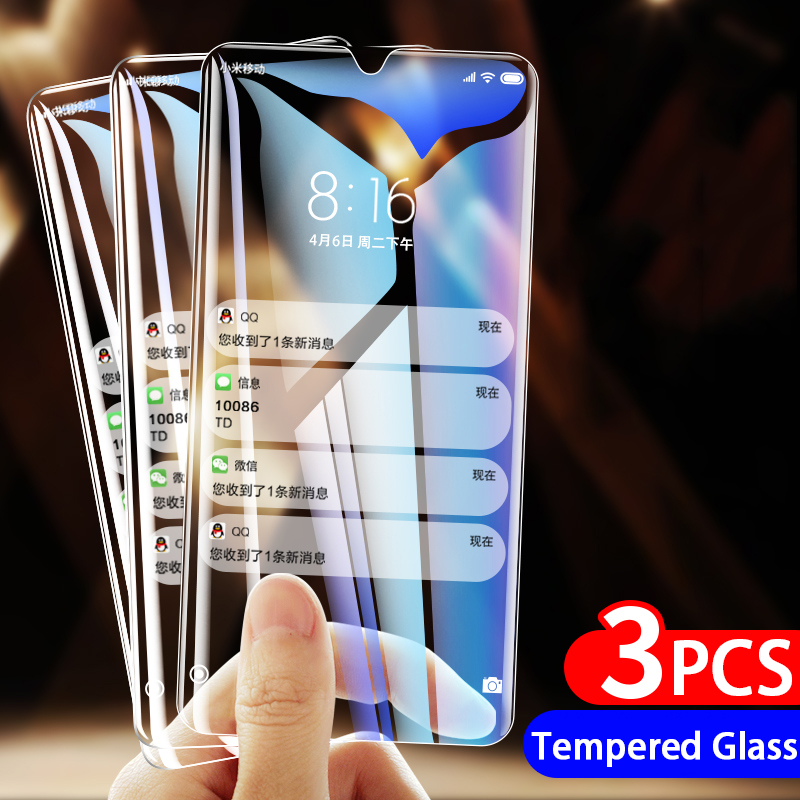 3pcs 9H tempered glass for Xiaomi Mi A3 protective glas Mia3 Mia 3 on Xiomi Mi CC9e CC9 e Micc9e Micc9 e screen protector film(China)