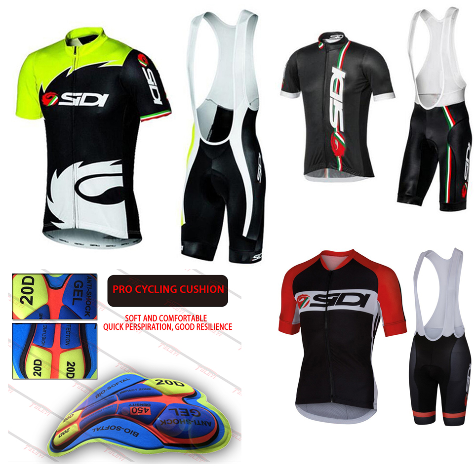 2019 SIDI Cycling Sets Bike Uniform Summer Cycling Jersey Set Road Bicycle Jerseys MTB Bicycle Wear Breathable Cycling Clothing