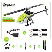 Eachine-helicóptero teledirigido E180 6CH, sistema 3D6G, Motor de accionamiento directo sin escobillas Dual, Flybarless BNF, Compatible con juguetes FUTABA S-FHSS