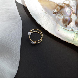 Image 4 - YKNRBPH Yellow 14K Gold Adjustable Pearl Ring For Womens Weddings Fine Jewelry Rings
