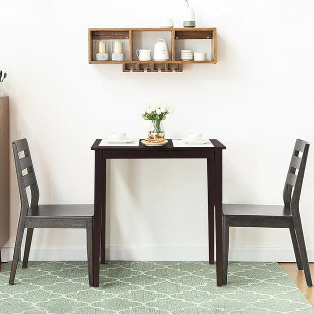 Square Dining Table w/Rubber Wood Legs 35.5 4