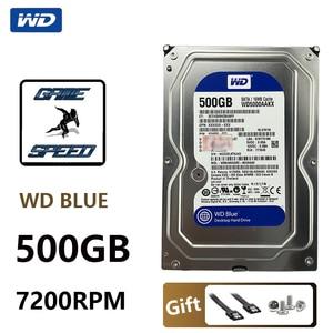 "WD BLUE 500GB Internal Hard Drive Disk 3.5"" 7200RPM 16M Cache SATA III 6Gb/s 500G HDD HD Harddisk for Desktop Computer(China)"