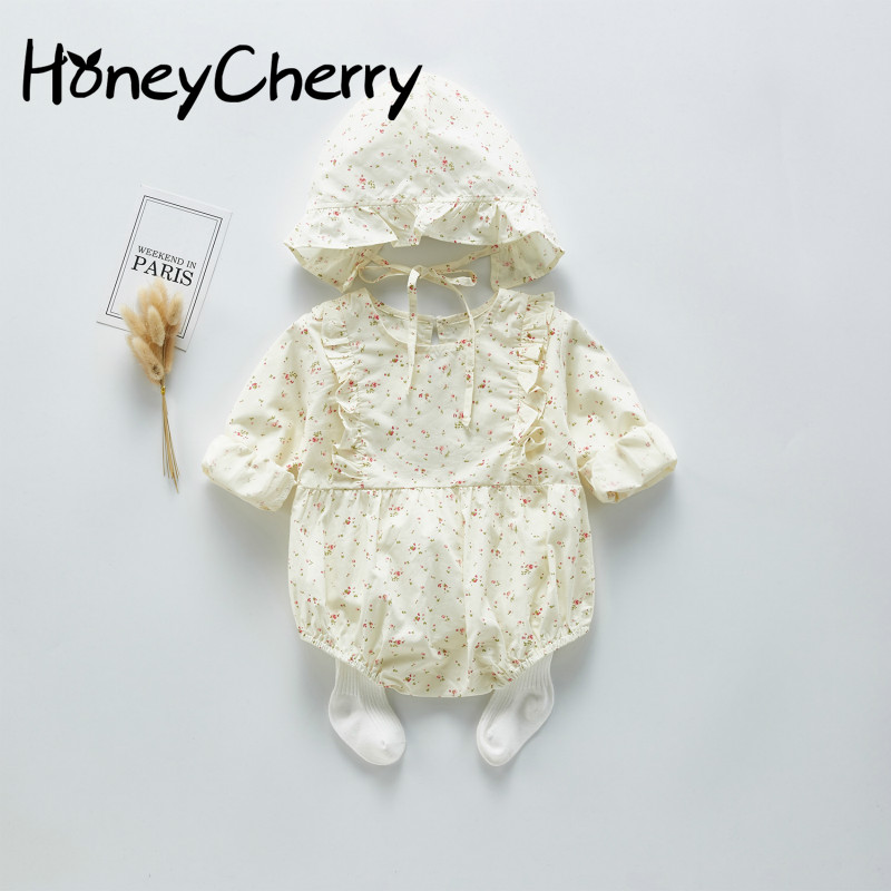 New Baby Girl Bodysuits Baby One-piece Clothes In Spring 2020 Baby's And Autumn Flower Breaking Bodysuit