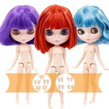 Icy Dbs Blyth Pop 1/6 Joint Body Wit En Super Donkere Huid 30 Cm Bjd Vettig Haar Diy Fashion Doll meisje