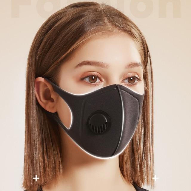 1/5/10Pcs Pollution Mask Reusable Washable Mascarilla Masque Maschera Air Dust Proof Smoke Pollution Mask Respirator Mask Makes 3