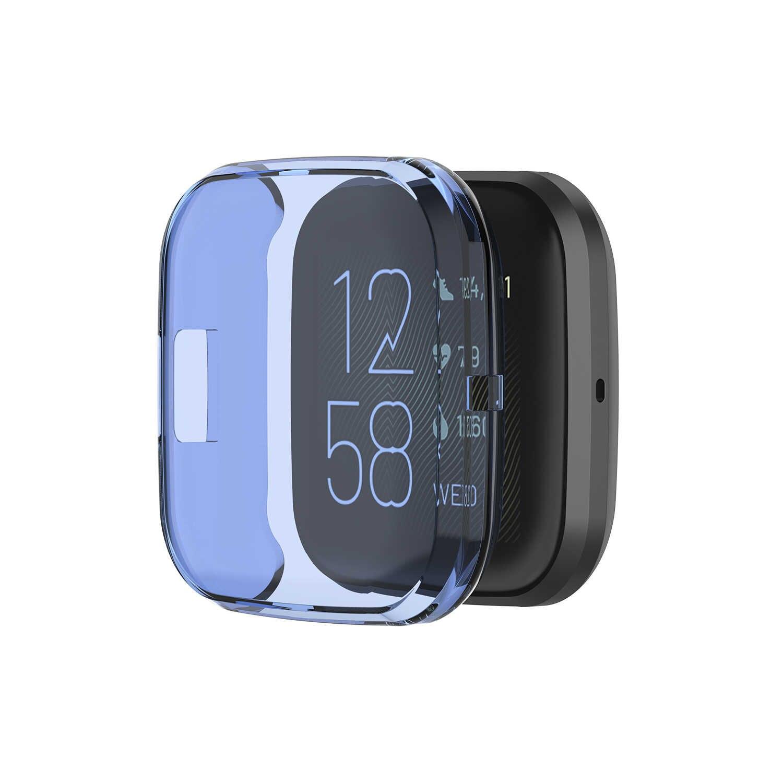 Housse protectrice en polyuréthane thermoplastique pour Fitbit Versa 2 coque de protection en Silicone souple cadre pour Versa2 montre intelligente accessoires bracelet