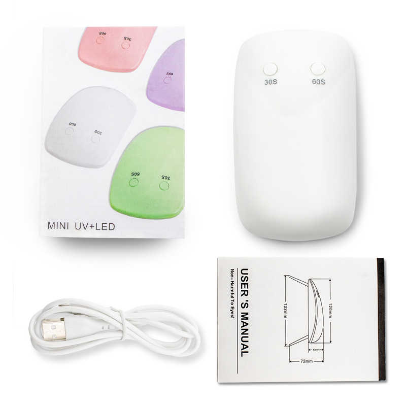 Akülü taşınabilir Mini tırnak kurutucu LED UV lambası 6W mikro USB kablo jel ışık kür UV jel lamba makinesi tırnak sanat aracı şarj edilebilir