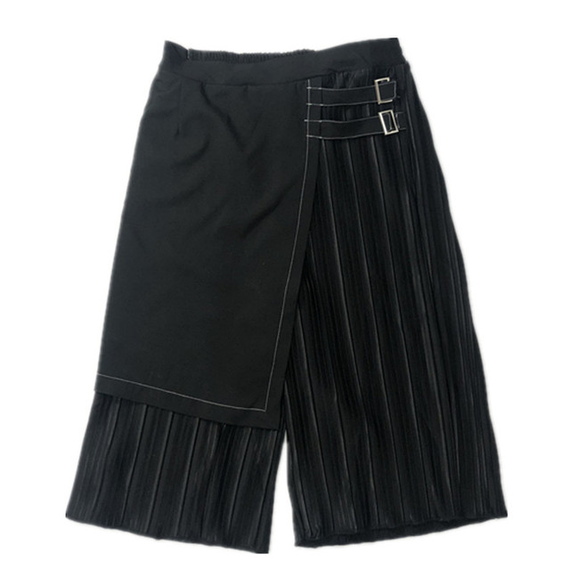 Owen Seak Men Casual Cross Pants Skirt High Street Wear Dark Ankle Length Pants Men Japanese Sweatpants Spring Harem Black Pants 3