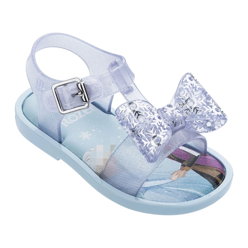 New Girls Mini Melissa Jelly Shoes 2020 Fashion Elsa Princess Candy Sandals Children's Summer Beach Wear Sandal Shoes SH19108