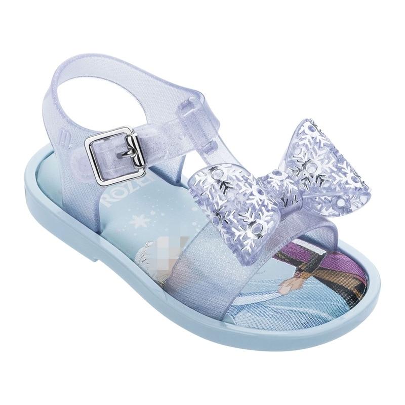 New Girls Mini Melissa Jelly Shoes 2020 Fashion Elsa Princess Candy Sandals Children's Summer Beach Wear Sandal Shoes SH19108
