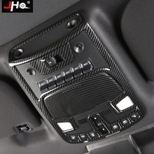 JHO ABS Carbon Grain Front Reading Light Frame Cover Trim for 2017 2019 Ford F150 Raptor 2018 Interior Decor Accessories