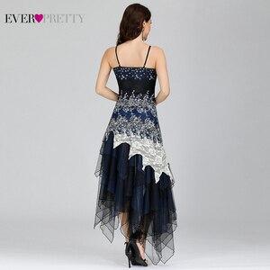 Image 2 - Seksowna sukienka koktajlowa damska długa Spaghetti dekolt w serek czarna biała koronkowa imperium kiedykolwiek ładna EP6212B musujące sukienki koktajlowe w rozmiarze Plus