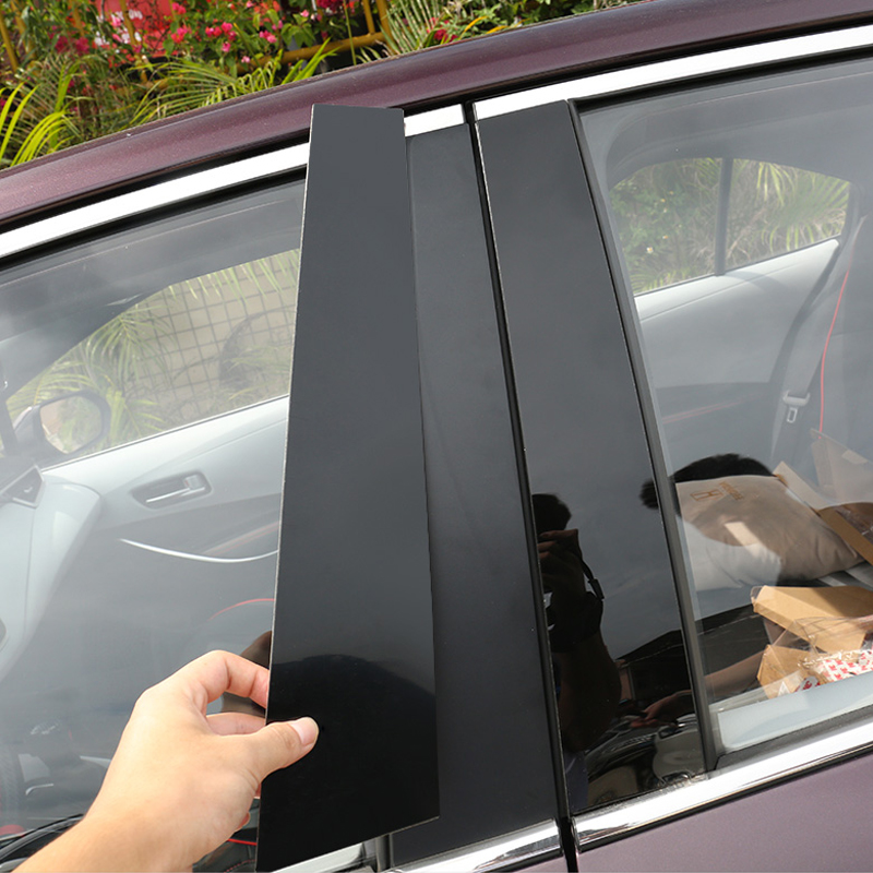 Autocollant de garniture de pilier de fenêtre noir brillant, 16 pièces, style de voiture pour Toyota Corolla 2019 2020
