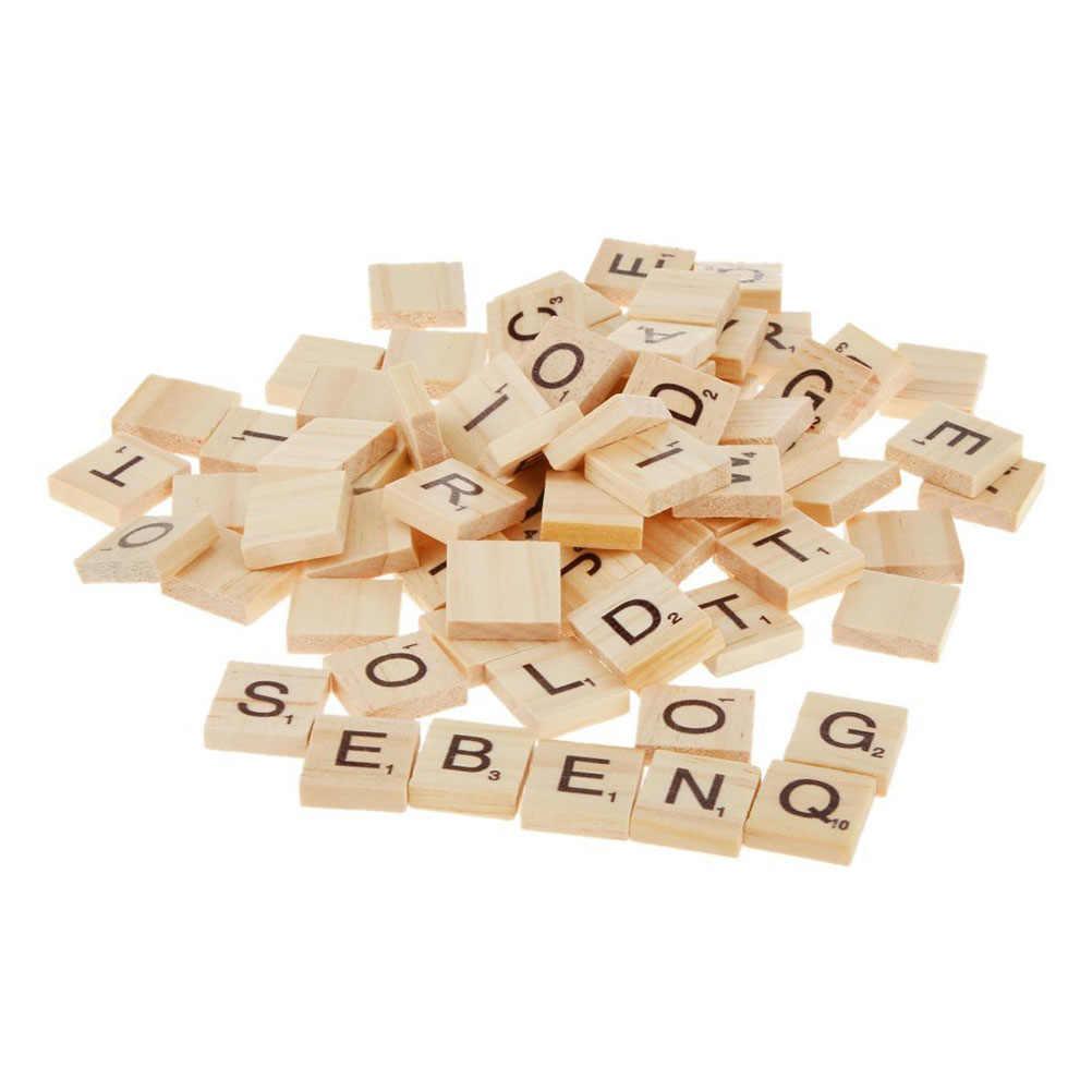 dise/ño de letras del alfabeto n/úmeros de letra Renquen manualidades Juego de 100 alfabeto ingl/és de madera para manualidades y bisuter/ía decoraci/ón