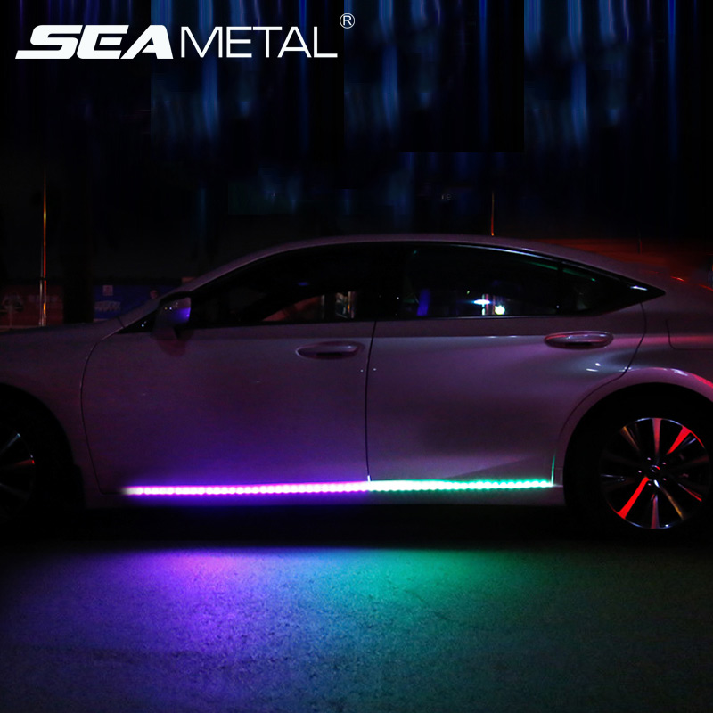 <font><b>LED</b></font> <font><b>Car</b></font> Under <font><b>Lights</b></font> Universal Flexible <font><b>Strip</b></font> <font><b>Lights</b></font> <font><b>RGB</b></font> Atmosphere <font><b>Light</b></font> <font><b>Strips</b></font> <font><b>Car</b></font> Chassis Underbody System Lamp <font><b>Car</b></font> styling image