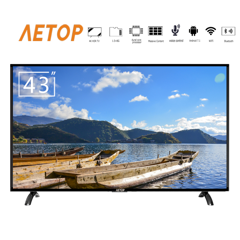 free shipping-tv smart 4k ultra hd android led 43 inch television flat screen tv with cheap price