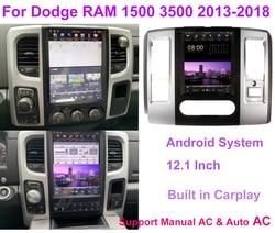 12.1 Inch PX6 Tesla Style Vertical Screen Car Radio For Dodge RAM 2013 2014 2015 2016 -2018 Multimedia Stereo Autoradio Player