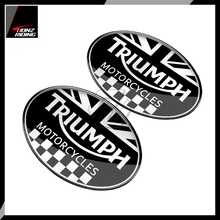 For Triumph Tank Pad Sticker 3D Motorcycle Racing Sticker Union Jack Flag Decal