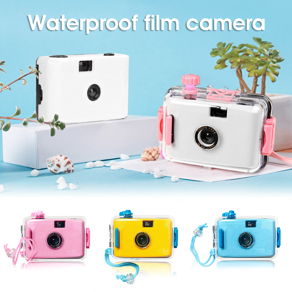 Kids LOMO Film Camera Underwater Diving Retro Point-and-shoot Camera With Waterproof Case Childrens Camera Toys