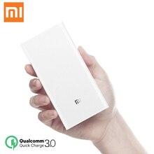 Orijinal Xiaomi güç bankası 20000mAh taşınabilir şarj iPhone Xiaomi harici pil desteği çift USB QC 3.0 güç bankası 20000