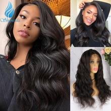13*4 koronkowe peruki dla czarnych kobiet ciało fala 180% gęstość średni stosunek brazylijski Remy peruki Glueless koronkowe peruki z dziecięcymi włosami