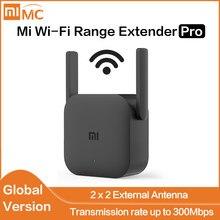 Versão global xiaomi mi extensor de alcance wi-fi pro xiaomi wifi pro amplificador roteador 300m 2.4g repetidor rede mi roteador sem fio