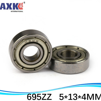 (1pcs) thin wall deep groove ball bearing 695ZZ 695-2RS S695ZZ S695-2RS 5*13*4 mm image