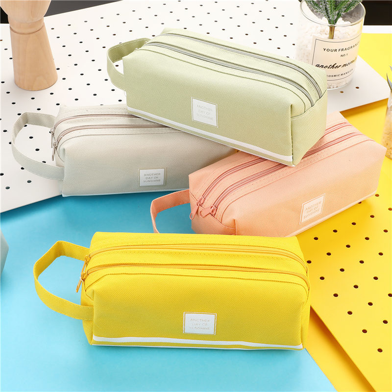 Large Capacity Fabric Pencil Cases Bags Pouch Creative Pen Box Case School Office Stationery Supplies 05089