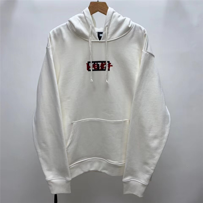 Flocking Box Logo kith Hoodie Men Women 1:1 High-quality Sweatshirts Tokyo exclusive opening KITH Pullover Hoody