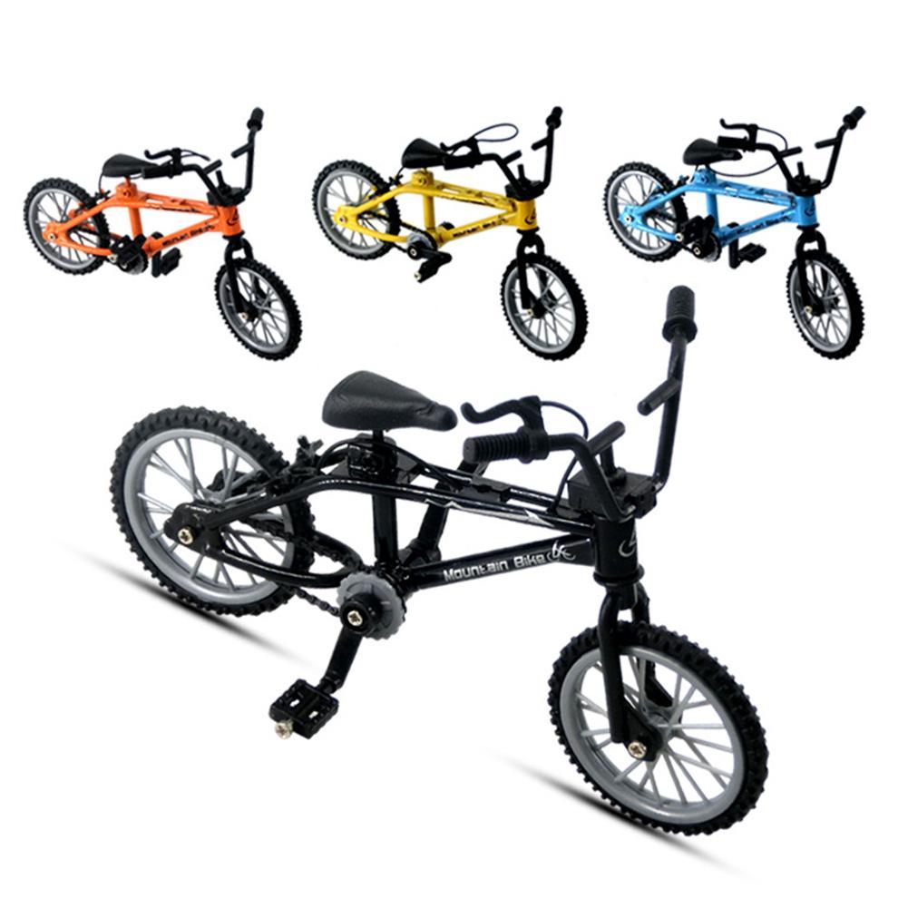1 шт. 1/18 палец велосипед игрушка Литье под давлением мини палец горный велосипед ремесла Настольный Декор детские развивающие игрушки для д...