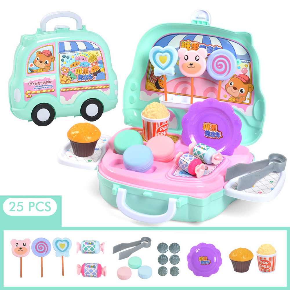 Cuisine Enfant Girl Toys Mini Food Cocinita De Juguete Toy Food Candy Cart Mini Kitchen Brinquedos Girls Toys For 3 Years