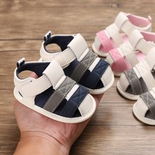 2020 Toddler Infant Newborn Kids Baby Boys Canvas Soft Sole Crib Sneakers Sandals Shoes Fashion Baby Sandals1(China)