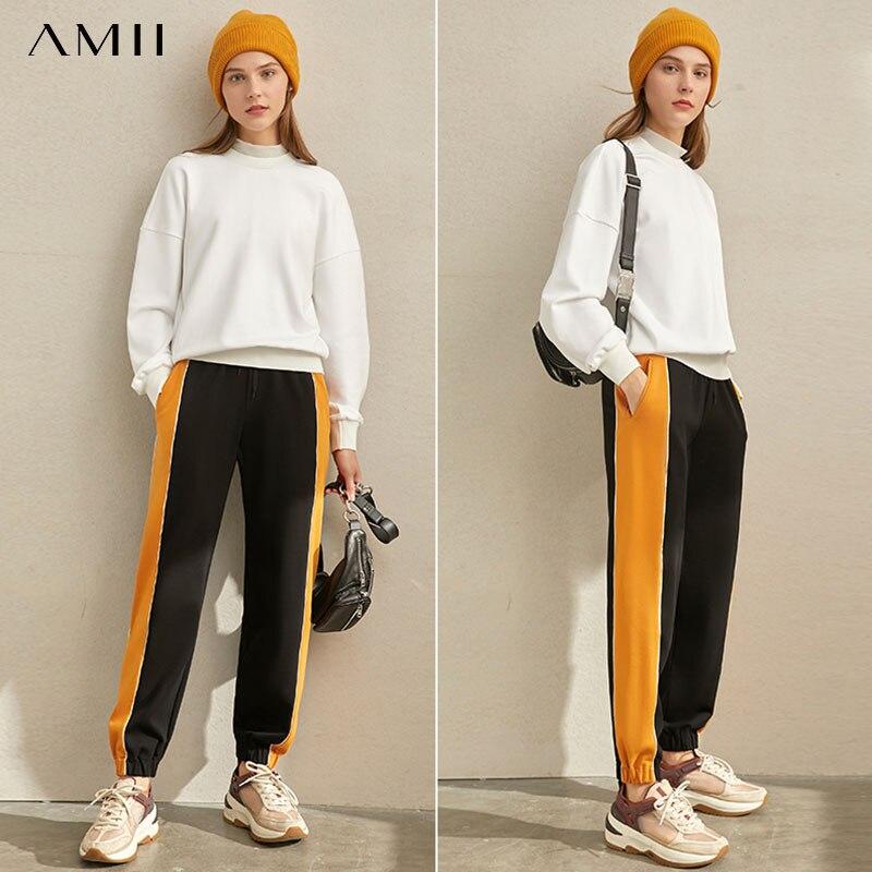 Amii Minimalist Solid Sweatshirt Autumn Women Casual Solid Turtleneck Loose Winter Female Hoodies 11970361