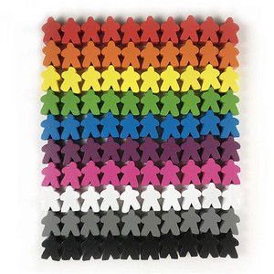 100 Wooden Meeples 16mm Extra