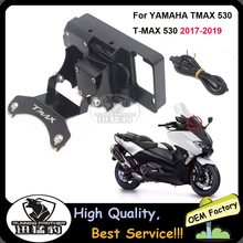 Suporte de navegação de para-brisa de motocicleta, para yamaha tmax 530 t-max 530 2017 2010-2019 2018 suporte de montagem