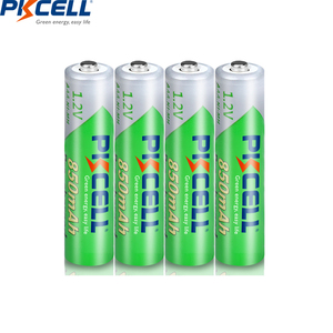 Image 3 - 16 adet PKCELL 850mAh 1.2V AAA NI MH şarj edilebilir pil Ni Mh ön şarjlı pil aaa piller + 4 adet pil kutusu kutuları