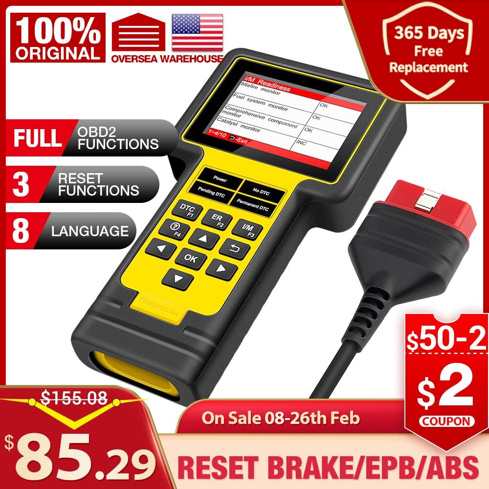 Thinkcar Thinkscan 600 ABS/SRS OBD2 сканер TS600 oil/TPMS/EPB Сброс OBD2 считыватель кодов PK CR619 AL619